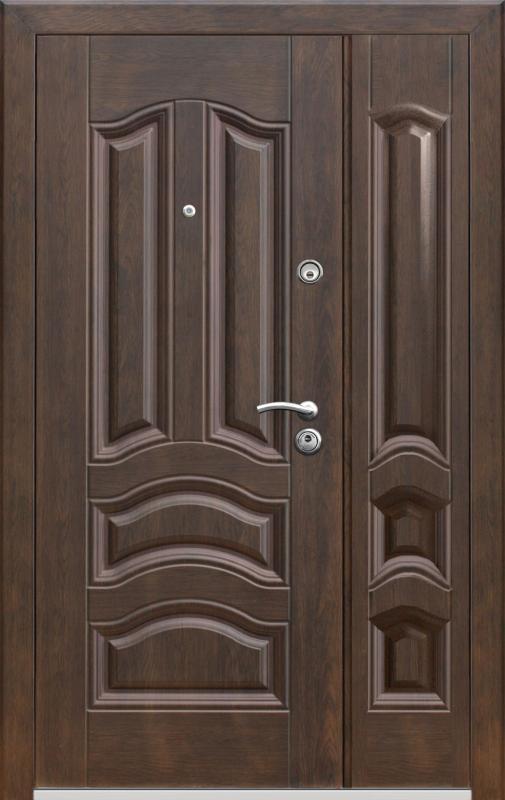большие металлические входные двери